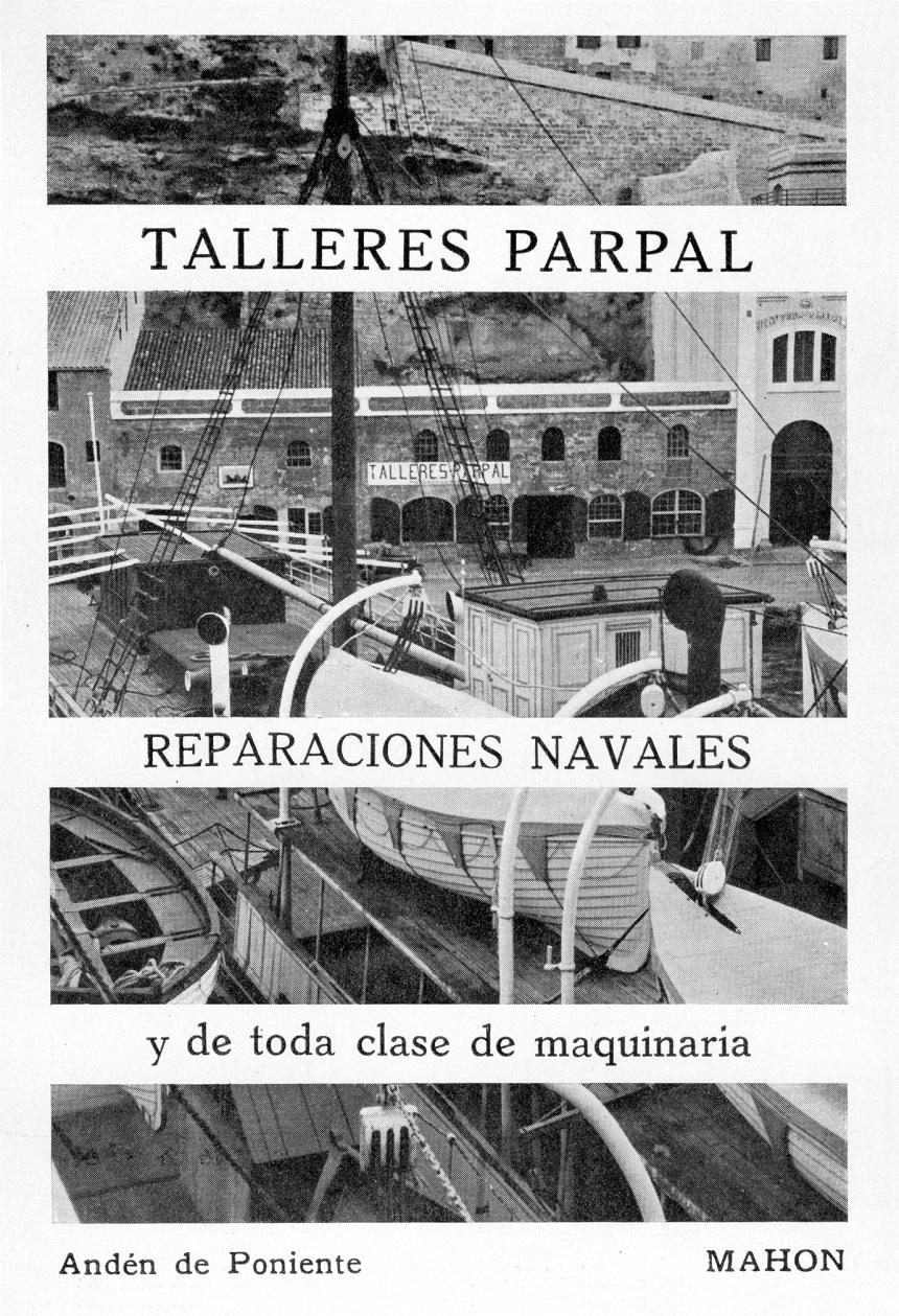 UN ANUNCIO DE LA ÉPOCA DE LOSRECONOCIDOS TALLERES PARPAL