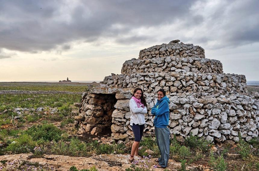 DETALLE DE UNA DE ESTAS CONSTRUCCIONES TÍPICAS DE ESTA ZONA DE MENORCA (Imagen de JUAN JOVER)